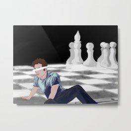 chessboard Metal Print