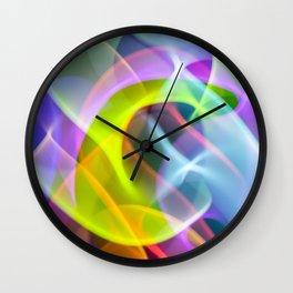 Mellow Rainbow Speed Swirls Wall Clock