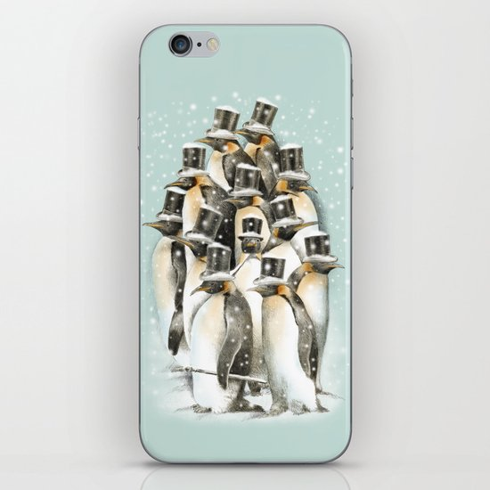 A Gathering in the Snow iPhone & iPod Skin