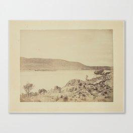 Pukaki River, Canterbury, 1873-1891, Canterbury, by Herbert Deveril. Canvas Print