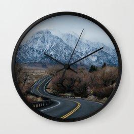 Blue Mountain Road Wall Clock