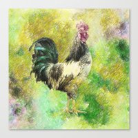 rooster Canvas Prints featuring Rooster by Taylan Soyturk