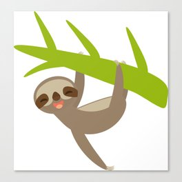 funny sloth Canvas Print