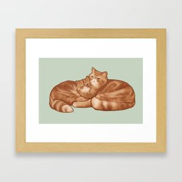 Seamus and Angus #thesnuggleisreal  Framed Art Print