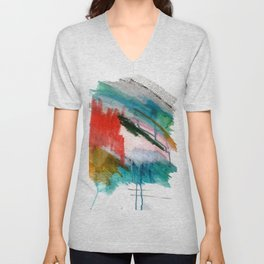 Happiness - a bright abstract piece Unisex V-Neck
