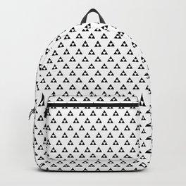 Triforce (Black on White) Backpack