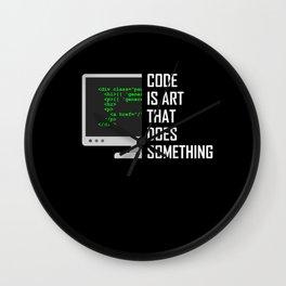 Coder Debugging Code Programmer Programming Gift Wall Clock