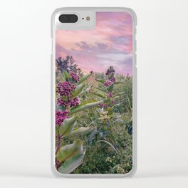 Hues Of Purple Clear iPhone Case