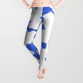 Large Spots - White and Royal Blue Leggings