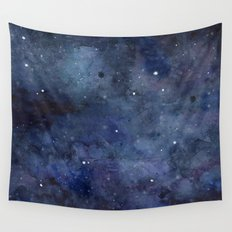 Night Sky Stars Galaxy | Watercolor Wall Tapestry
