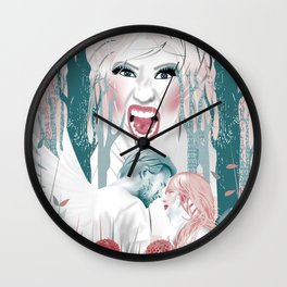 the love story of Cupid And Psyche - Celebrity Edition Wall Clock