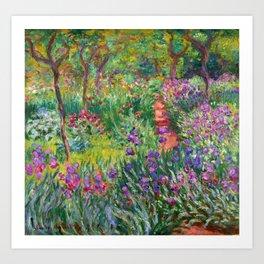 Claude Monet - The Iris Garden At Giverny Art Print