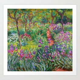 Claude Monet - The Iris Garden At Giverny Art Print