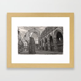 Holyrood Mono Framed Art Print
