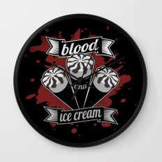 Blood & Ice Cream - Silver Variant Wall Clock