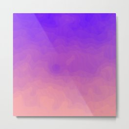 Pink and Purple Ombre - Swirly - Flipped Metal Print