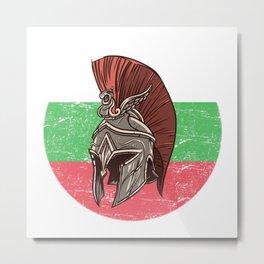 Bulgaria Bulgarian Spartan  TShirt Warrior Shirt Flag Gift Idea Metal Print