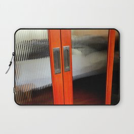 Ribbed Glass Doors - A Half Made Bed Laptop Sleeve