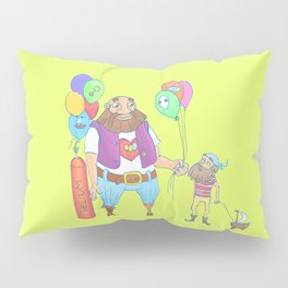 Kid pirate and huge pirate! Pillow Sham