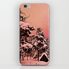 Magic of frozen forest iPhone Skin