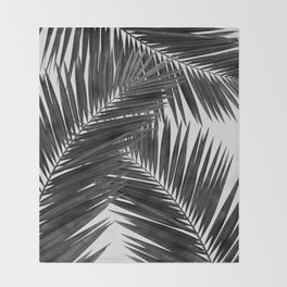 Palm Leaf Black & White III Throw Blanket