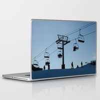 ski Laptop & iPad Skins featuring ski by Sébastien BOUVIER