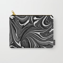 Black White Grey Marble Carry-All Pouch