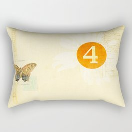 4 oclock butterfly  Rectangular Pillow