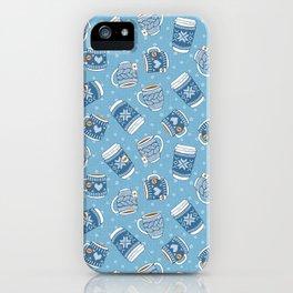 Cozy Blue Mugs iPhone Case