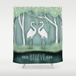 The Crane Princesses Shower Curtain