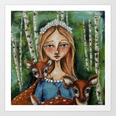 The Forest Maiden Art Print