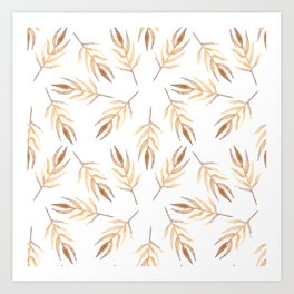 Autumn leaves pattern. Art Print