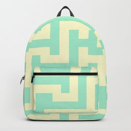 Cream Yellow and Magic Mint Green Labyrinth Backpack
