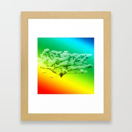 Tree of colours Framed Art Print