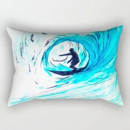 Solo - Surfing the big blue wave Rectangular Pillow