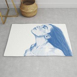 Lady In Blue Rug