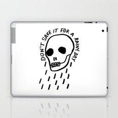 ink black and white skull illustration typography Laptop & iPad Skin