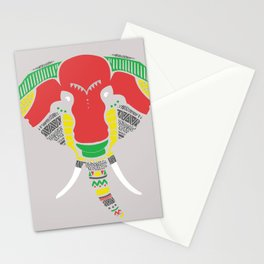 Colourful Elephant Stationery Cards