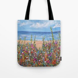 Summer Beach, Impressionism Seascape Tote Bag