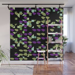 Magenta Lime Floaters Wall Mural