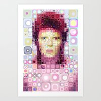 david bowie Art Prints featuring David Bowie by Artstiles