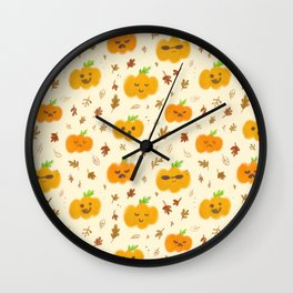 pumpkin faces Wall Clock