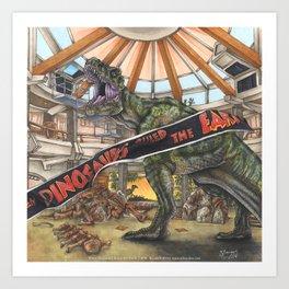 When Dinosaurs Ruled the Earth - Jurassic Park T-Rex Art Print