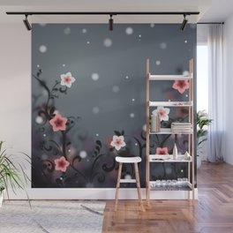 Pink and white flowers - Elegant Wall Mural