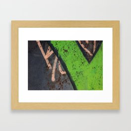 Rustin' piece Framed Art Print