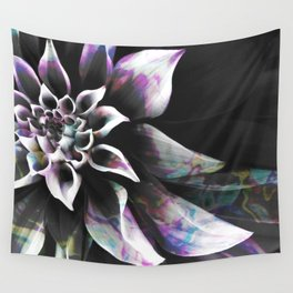 Fluid Nature - Marbled Flower Wall Tapestry