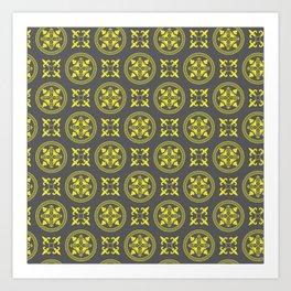 Antique Golden Circles Art Print