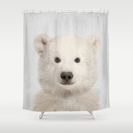 Polar Bear - Colorful Shower Curtain