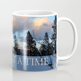 One Day at a Time Rooftop, Hills, and Trees Coffee Mug