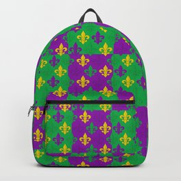 Mardi Gras Fleur-de-Lis Pattern Backpack